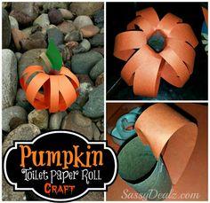 DIY: Pumpkin Toilet Paper Roll Craft For Kids (Fun For Halloween!) Great idea that SassyDealz.com linked up to @DearCreatives party! #kids #crafts #kidscrafts #Halloween #papercrafts