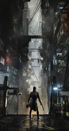 Alleyway from Deus Ex: Mankind Divided