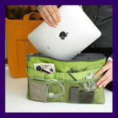 ipad Purse Handbag Organizer Insert - Electronics - Computers & Accessories - handmade handbags & accessories - http://amzn.to/2ktogxC