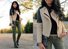 Green and beige (by Sharena C.) http://lookbook.nu/look/4201077-Green-and-beige