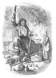 Antique Christmas Image - Dickens - A Christmas Carol