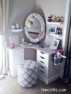 Corner Makeup and Hairstyling Vanity