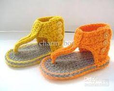 Resultado de imagen de crochet newborn sandals