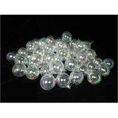 """60ct Clear Iridescent Shatterproof Christmas Ball Ornaments 2.5"""" (60mm) April 14, 2015: $19.99"""