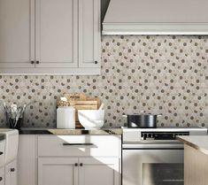 Peel and Stick Modern Hexagon Beige Gold Vinyl Mosaic Tile Peel N Stick Backsplash, Peel And Stick Tile, Kitchen Backsplash, Brick Material, Mosaic Wall Tiles, Tile Projects, Shower Floor, Interior Walls, Glazed Ceramic