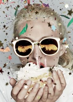 """Cake, confetti and chaos is the theme of Karen Walker's latest """"Celebration"""" collection created in honor of her companies 10-year anniversary. The collection includes one style from each year in a lim"""