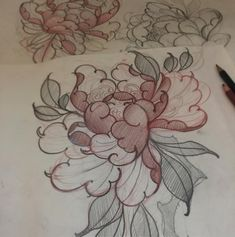 Peonies... For more info and appointments: moshtattoo12@gmail.com