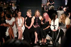 Lais Ribiero Hailey Clauson Niki Taylor Lindsay Ellingson May Kwok and Olivia Palermo attend the Jonathan Simkhai collection during New York Fashion...