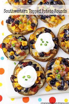 Southwestern Potato Rounds #recipes