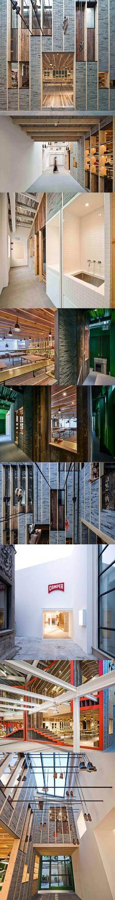 2013 Neri & Hu - Camper Showroom / Shanghai China / wood stone / white red / commercial