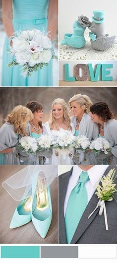 Refreshing Tiffany Blue and Grey Wedding Color Trends On Pinterest #TiffanyBlueWeddings