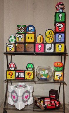 Collection of 3-D Perler Stuff by FlaminYawn.deviantart.com on @deviantART