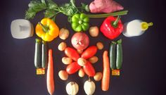 Ingredients for africanized Ratatouille
