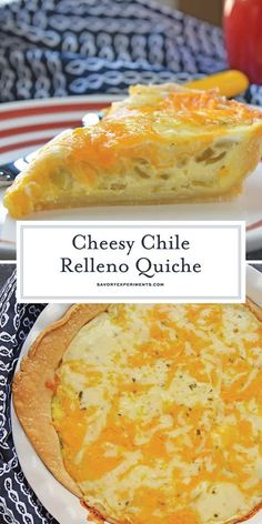 Chile Relleno Quiche is the perfect brunch recipe! It's loaded with flavor from … Chile Relleno Quiche is the perfect brunch recipe! It's loaded with flavor from hatch chiles, two kinds of cheese, and spices! Easy Brunch Recipes, Gourmet Recipes, Mexican Food Recipes, Cooking Recipes, Tasty Breakfast Recipes, Vegetarian Brunch Recipes, Cooking Time, Easy Desserts, Recipes