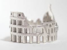 Check out Rome Cityscape - Skyline Statement Ring by shekhtwoman on Shapeways and discover more 3D printed products in Rings.