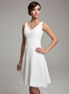 A-Line/Princess V-neck Knee-Length Chiffon Bridesmaid Dress With Ruffle Beading Sequins (007001083) http://www.dressdepot.com/A-Line-Princess-V-Neck-Knee-Length-Chiffon-Bridesmaid-Dress-With-Ruffle-Beading-Sequins-007001083-g1083 Bridesmaid Dress Bridesmaid Dresses #BridesmaidDress #BridesmaidDresses
