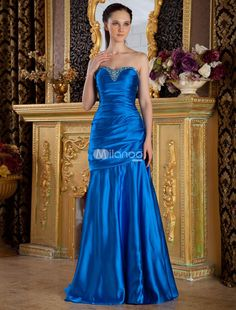 Royal Blue Sweetheart A-line Beading Elastic Woven Satin Prom Dress. When it comes to dressing for a formal event, you want to be sure that all eyes will be on you. While wearing this lovely dress, we can almost guarantee it. It is made from a nice elastic woven satin fabric that ensures a g.. . See More A-line at http://www.ourgreatshop.com/A-line-C938.aspx
