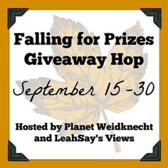 Today I am thrilled to bring you a great giveaway! Not to mention the fact that I am thrilled to be a part of the Falling for Prizes Giveaway Hop brought to you by Planet Weidknecht and L…