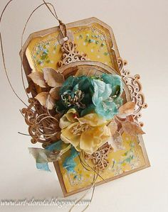 From Dorota Kopec in Stalowa Wola, POLAND. Atc Cards, Card Tags, I Card, Gift Tags, Quilling Flowers, Paper Flowers, Paper Divas, Craftwork Cards, Shabby Chic Cards