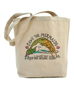 Natural 'Save The Mermaids' Tote Bag #zulily #zulilyfinds