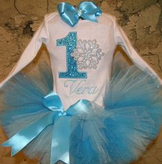 First Birthday Princess tutu outfit Blue Sparkle Custom Boutique monogrammed tutu outfit 1st,2nd,3rd,4th,5th birthday tutu se