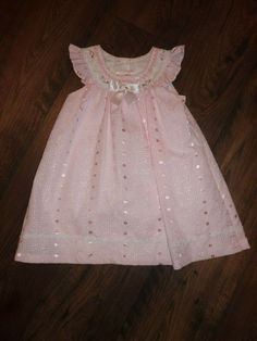 593cdc363 Bonnie Baby Girl's White Eyelet with Pink Accents Dress - Size 24 Months -  EUC