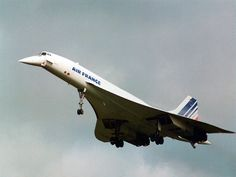 Concorde, the fastest supersonic commercial airliner in the world that did service from 1976 to 2003.