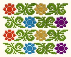 Pin by Luciana Georgescu on Ethnic Identity Cross Stitch Rose, Cross Stitch Borders, Cross Stitch Flowers, Cross Stitch Patterns, Cute Embroidery, Cross Stitch Embroidery, Embroidery Patterns, Loom Beading, Beading Patterns