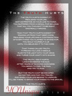 #poem The Truth Hurts