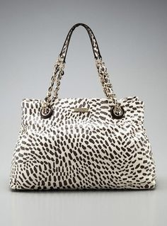 Kate Spade Maryanne Large Tote Bag Handbag in Coconut Cream Safari Giraffe Print