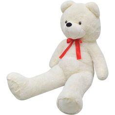 vidaXL Teddybeer zacht pluche XXL wit 150 cm