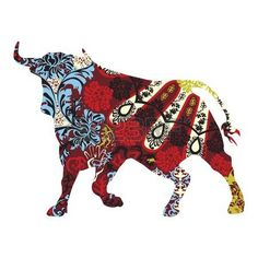bull in a Spanish ornament photo