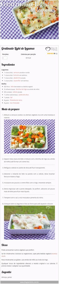 Gratinado Light de Legumes - Blog da Mimi - #gratinado #light #legumes #receita                                                                                                                                                     Mais