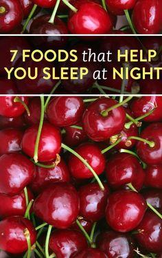 7 foods that help you sleep at night - try cherries, kiwi, or dairy milk. | Bustle.com