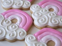 Getting Jazzed for Baby Girl! Pink Rainbow Cookies from a Cupcake Cutter