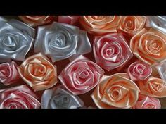 Розы Канзаши/Roses kanzashi - YouTube