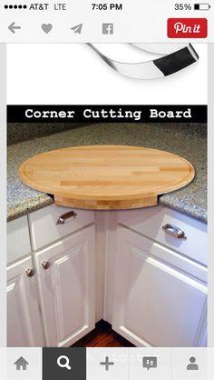 I want one! Corner counter cutting board