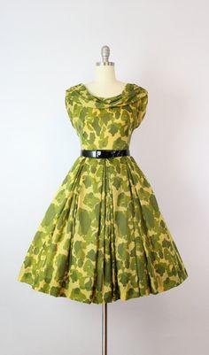 a8ec1c28d0575c vintage 50s dress   rare 1950s military dress by archetypevintage 50 Mode