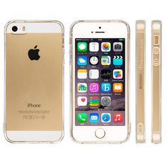 Highend Berry TPU Soft Clear Case with Anti-dust Plug Cover and Strap Holes for Iphone 5s / 5