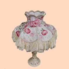 Image Detail For Victorian Lamp Shabby Chic Lace Table