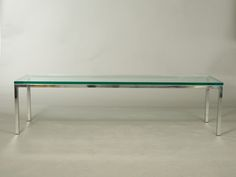 Mid-Century Chrome and Glass Coffee Table image 3