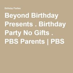 A better than expected birthday present for us in june jobs report beyond birthday presents birthday party no gifts pbs parents stopboris Gallery