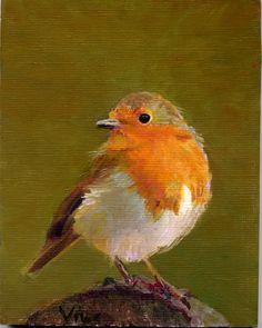 bird 157 robin vitec stanecki fine art oil paintings