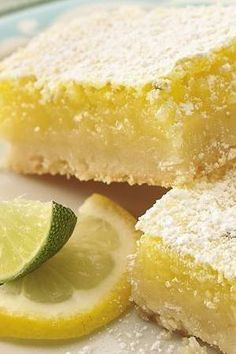 """Tropical Citrus Bars-pinner """"Sweet and Delicious"""" group board Lemon Desserts, Just Desserts, Delicious Desserts, Yummy Food, Brownie Recipes, Cookie Recipes, Dessert Recipes, Yummy Cookies, Bar Cookies"""