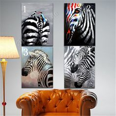 Zebras, Different Patterns, Stripes, African, Painting, Black And White, Etsy, Art, Handmade Gifts