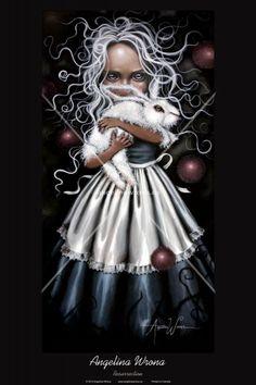 Art Print: Resurrection by Angelina Wrona : Lewis Carroll, Dark Fantasy, Fantasy Art, Alice In Wonderland Pictures, Tim Burton Art, Dark Artwork, Twisted Disney, Hand Painted Walls, Artwork Display