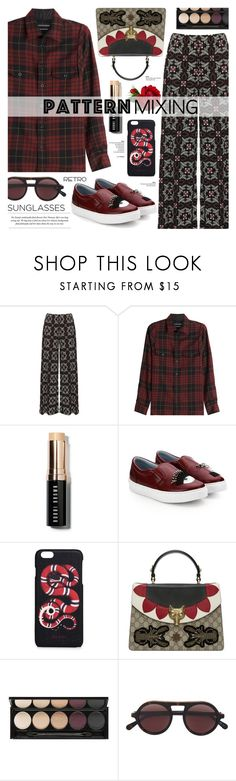 """Pattern Mixing"" by cly88 ❤ liked on Polyvore featuring WearAll, Alexander McQueen, Bobbi Brown Cosmetics, Chiara Ferragni, Gucci, Witchery, STELLA McCARTNEY and Retrò"