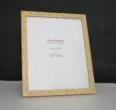 gold glitter frame sparkling decorative picture frame by lauriebcreations