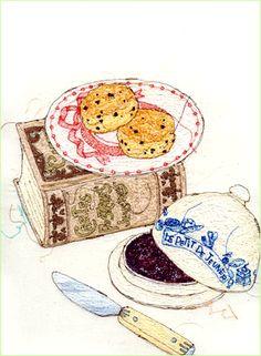 sewing machine illustrations by Miyuki Sakai