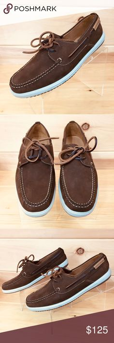 b821e76bc93 Peter Millar Brown Suede Boat Shoes NWB Size 11 M Peter Millar Brown Suede  Boat Shoes